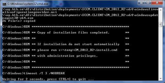 Manual installation of the SCCM client | KTH Intranet