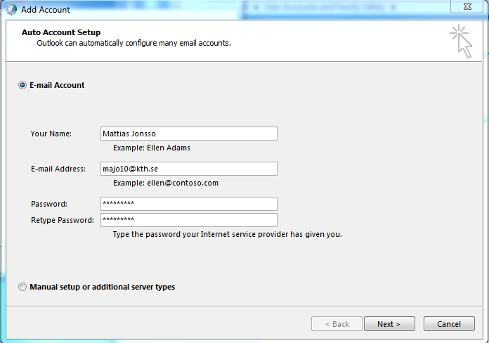 Settings for Outlook in Windows | KTH Intranet