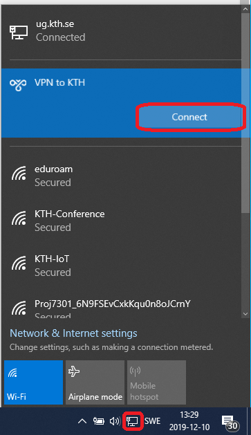 picture of connect to vpn icon in windows 10