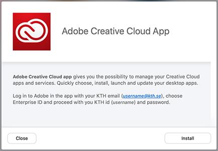 2  Install Adobe Creative Cloud in KTH Mac   KTH Intranet